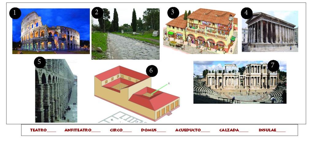 Actividad sobre arquitectura romana