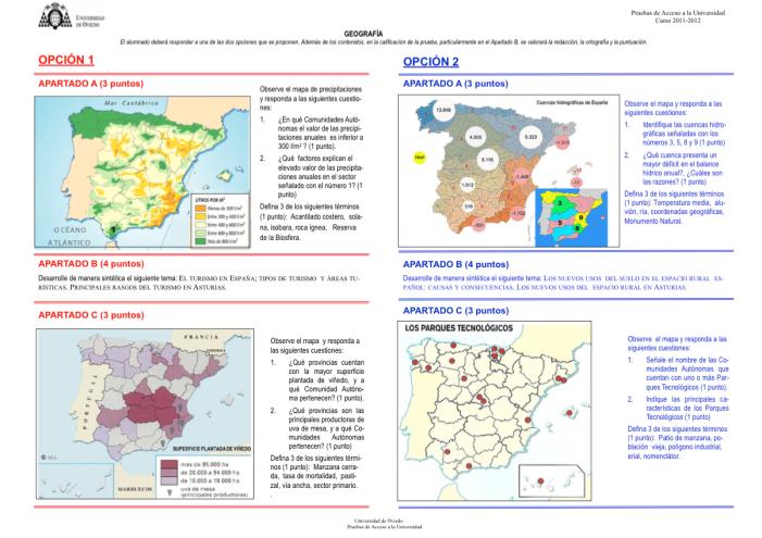 examen PAU Asturias