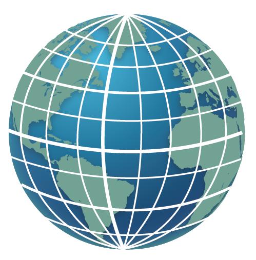 globo terráqueo mudo para localizar meridianos y paralelos, ecuador, tropico de cancer, tropico de capricornio, y meridiano de greenwih