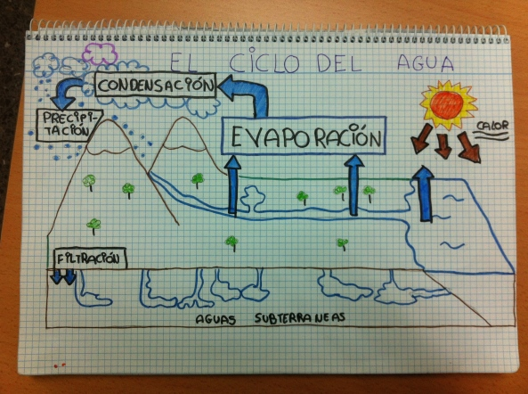 esquema ciclo del agua