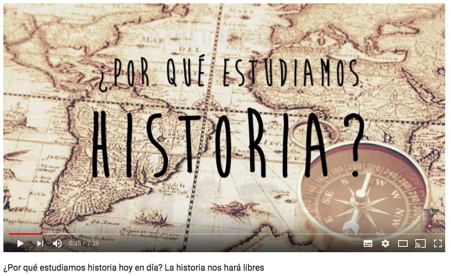 Vídeo para qué sirve saber historia