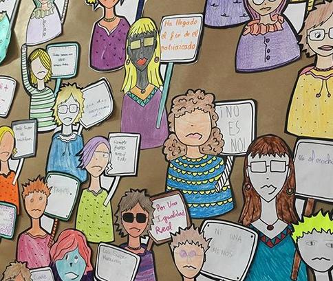 actividad mural feminista